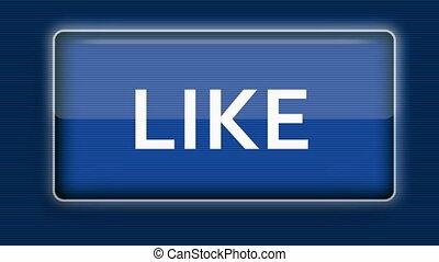 Cursor Clicks Like Button - Close up of a cursor clicking a...