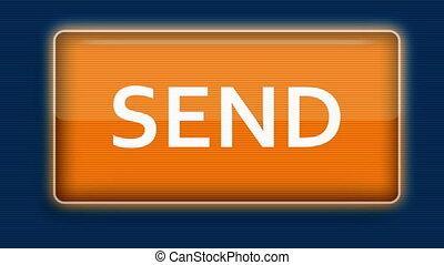Cursor Clicks Send Button - Close up of a cursor clicking a...