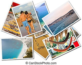 Sea holiday, Photos collage - Photos collage of sea holiday