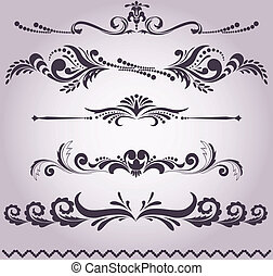 collection of decorative elements 5 - collection of vintage...