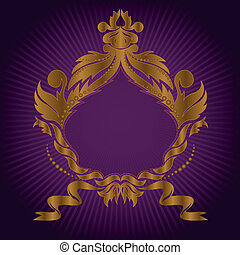 gilded frame on lilac