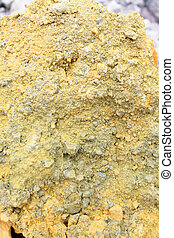 Sulfur Texture from Geology Volcanic Crater using as...