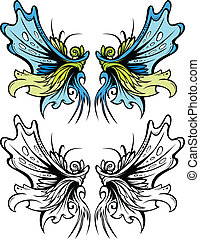 Fairy Wings Graphic Vector Set - Graphic Vector Images of...