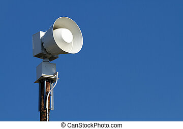 Public Emergency Warning Siren - A modern public emergency...