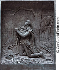 The prayer at Valley Forge at the Federal Hall in New York