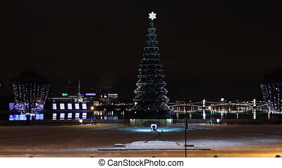 Christmas tree in St Petersburg