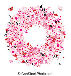 Floral wreath for your design