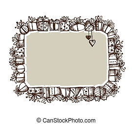 Gift boxes, frame for your design