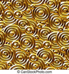 Seamlessly golden circles - Seamlessly golden circles...