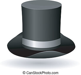 Vector illustration of a cylinder hat