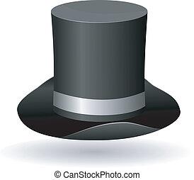 Vector illustration of a cylinder hat