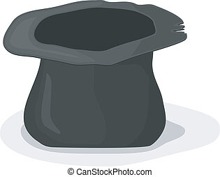 Vector illustration of a hat beggar