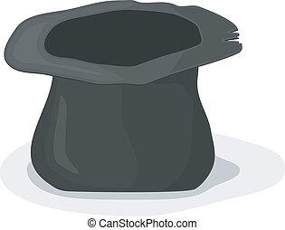 Vector illustration of a hat beggar