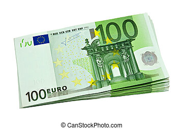 bunch of euro currency