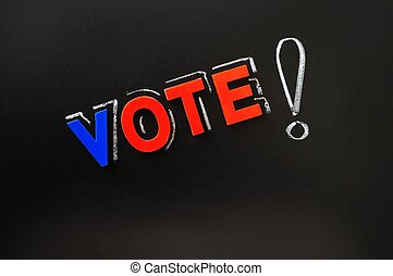 Vote with a big exclamation mark
