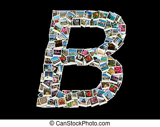 "Shape of ""B"" letter- photo collage"