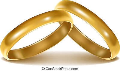 Background with wedding rings Vector illustration