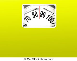 Dieting - A conceptual dieting image using bathroom scales