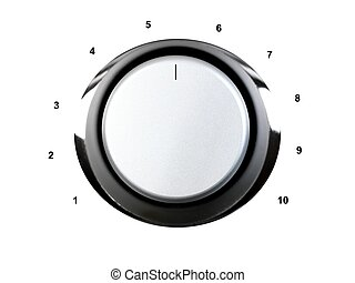 Volume - A volume contol knob isolated against a white...