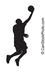 Basketball Player_2 - An abstract vector illustration of a...