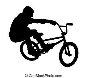 BMX Rider_3 - An abstract vector illustration of a BMX rider...