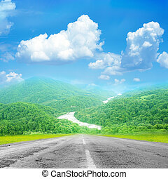 roite - summer day and road as travel background
