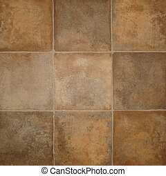 tile effect vinyl floor covering - Close up of tile effect...