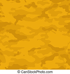 Yellow Camouflage Background