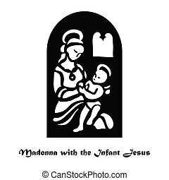 Madonna-with-the-Infant-Jesus - Illustration - Madonna with...