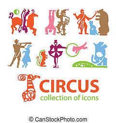 Circus-collection-icons - Circus A collection of icons art -...