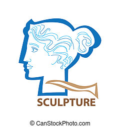 sculpture - Template icon Art - a symbol of sculpture Vector...