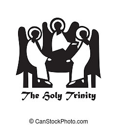 The-Holy-Trinity - Illustration - The Holy Trinity Icon:...