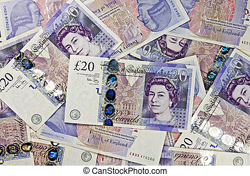 a lot of twenty pounds - a lot of twenty pounds ( banknotes...