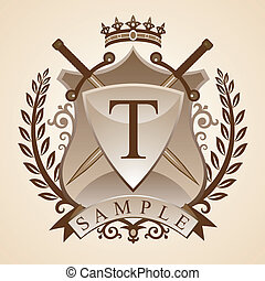 Vintage emblem - Vector illustration - coat of arms - a...