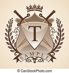 Vintage emblem - Vector illustration - coat of arms - a...