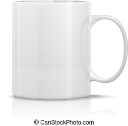 white mug - photorealistic white cup for logos and graphics
