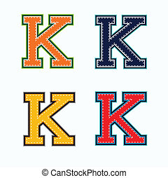 K college letter - k college letter in 4 colors