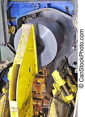 making the rolls of steel sheet