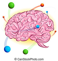 Atomic Brain - An image of a atomic brain.
