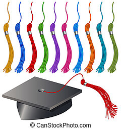 Graduation Cap and Tassel Set - An image of a graduation cap...