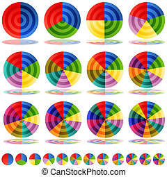 Pie Chart Target Icon Set - An image of a pie chart target...