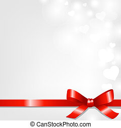 Backgrounds With Red Ribbon And Hearts