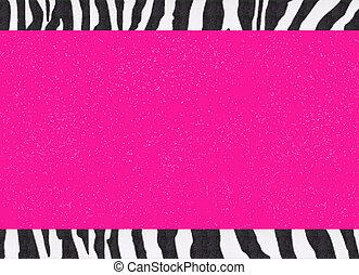 Glitter Hot Pink Zebra Paper