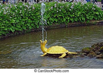 """peterhof,  turtles"""",  ST, chafariz,  Petersburg,  """"the"""