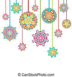 Colorful Background - illustration of hanging colorful...
