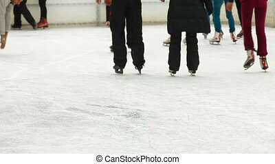 People at Ice Rink, Rear View, lockdown, Canon 5D Mark II