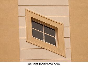 oblicuo, ventana