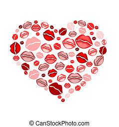cuore, baci