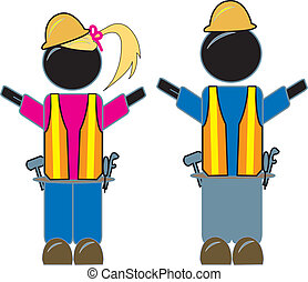 Male And Female Construction Worker