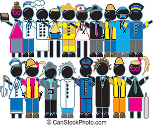 Work Force - a simple drawing of a group of people with...
